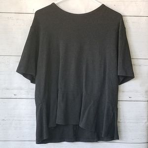 Gap Black Heather Peplum Top XXL